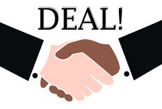 Deal done. A deal done shaking hands business men Royalty Free Stock Image