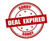 Deal expired Royalty Free Stock Photo