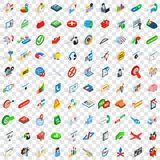 100 deal icons set, isometric 3d style. 100 deal icons set in isometric 3d style for any design vector illustration Stock Photos