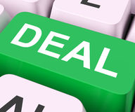 Deal Key Shows Contract Or Dealing Stock Images
