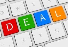 Deal keyboard concept 3d illustration. Deal keyboard  on white background 3d illustration Stock Image