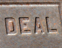 Deal Letters Stock Photography