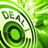 Deal Means Bargain Or Partnership Agreement Stock Images