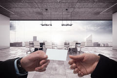 Deal in a meeting room Royalty Free Stock Images
