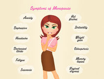 Deal with menopause Royalty Free Stock Images