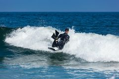 Surfing in Deal New Jersey Stock Images