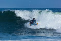 Surfing in Deal New Jersey Royalty Free Stock Images