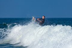 Surfing in Deal New Jersey Royalty Free Stock Photos