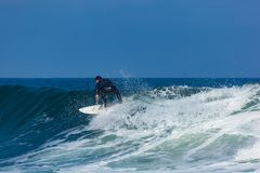 Surfing in Deal New Jersey Royalty Free Stock Image