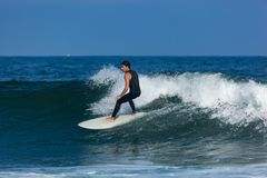 Surfing in Deal New Jersey Stock Photo