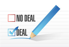 Deal no deal check mark selection illustration Royalty Free Stock Photo