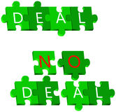 Deal and No deal puzzle Royalty Free Stock Images