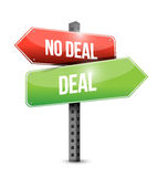 Deal, no deal sign Stock Photography