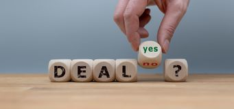Deal or no deal? royalty free stock photography