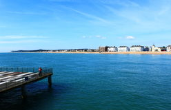 Deal pier seafront Kent England Royalty Free Stock Photos