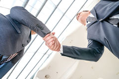 The deal ready! Two young businessman standing opposite each oth Royalty Free Stock Image