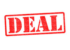 DEAL. Rubber Stamp over a white background stock images