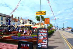 Deal seafront restaurants Kent England Royalty Free Stock Photography