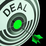 Deal Shows Reduction or Bargain Stock Image