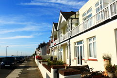 Deal town coastal street Kent United Kingdom. Nice houses at The Marina street in Deal.Deal is a town in Kent, England which lies on the English Channel, eight Stock Photography