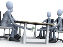 Deal Under The Table Stock Photography