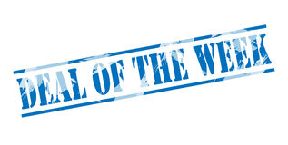 Deal of the week blue stamp. Isolated on white background Royalty Free Stock Images