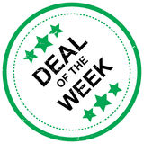 Deal of the week. An illustration of a rubber stamp with the text 'Deal of the Week Royalty Free Stock Photography