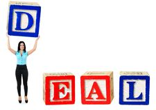 Deal word Stock Image
