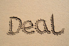 Deal, written on a beach Royalty Free Stock Photography