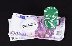 Dealer casino money concept Stock Images