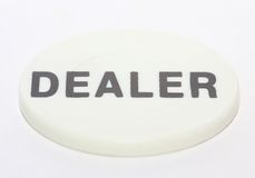 Dealer Chip. Poker Dealer Chip Isolated on white Royalty Free Stock Photos