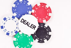 Dealer Chip Royalty Free Stock Images
