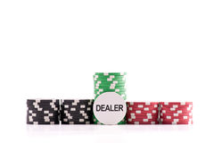 The Dealer Chip Royalty Free Stock Images