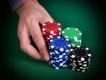 Dealer hands Stock Photos