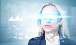 Dealer in illuminated smart glass Stock Images