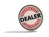 Dealer poker chip or dealer button Royalty Free Stock Photo