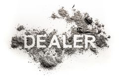 Dealer word as finance business broker concept Stock Images