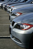 Dealership. Grey cars royalty free stock photography