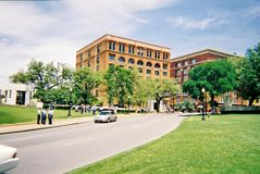 Dealey Plaza στο στο κέντρο της πόλης Ντάλλας Η θέση της δολοφονίας του Προέδρου John F kennedy Στοκ Φωτογραφία