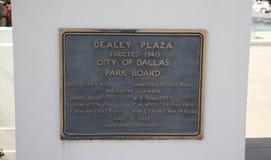 Dealey Plaza Marker Dallas, Texas Royalty Free Stock Photography