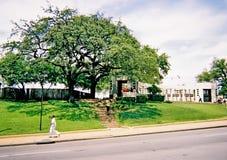 Dealeyplein in Dallas Van de binnenstad De plaats van de moord van President John F kennedy Royalty-vrije Stock Foto