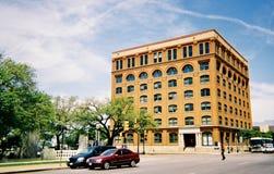 Dealeyplein in Dallas Van de binnenstad De plaats van de moord van President John F kennedy Stock Foto