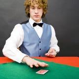 Dealing cards Stock Photo