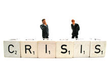 Dealing with a crisis. Two managers dealing with a crisis royalty free stock photo