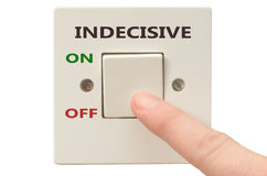 Dealing with Indecisive, turn it off Royalty Free Stock Photo
