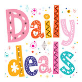 Daily deals decorative lettering text Royalty Free Stock Images