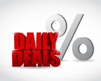 Daily deals percentage sign illustration design Royalty Free Stock Photos