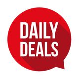 Daily Deals sign button Royalty Free Stock Photography