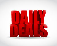 Daily deals sign illustration design Royalty Free Stock Image