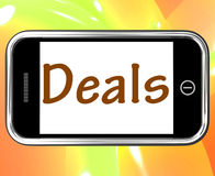 Deals Smartphone Shows Online Offers Bargains And Promotions Royalty Free Stock Image